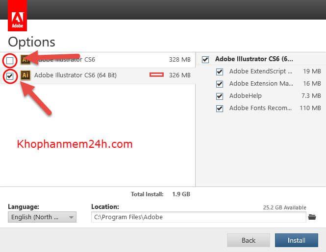 Download Adobe Illustrator CS6 Full-Hướng dẫn cài đặt Illustrator CS6 7