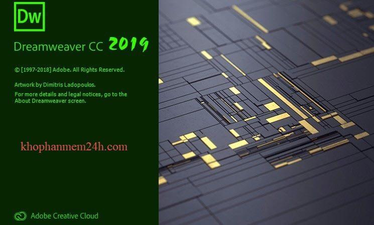 Download Adobe Dreamweaver CC 2019 Full-Hướng dẫn cài đặt Dreamweaver 1