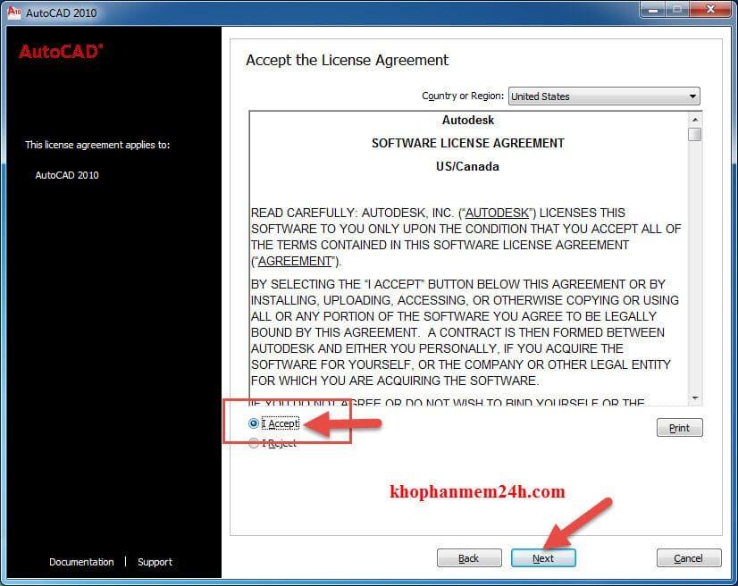Download Autocad 2010 full + Hướng dẫn cài đặt 8