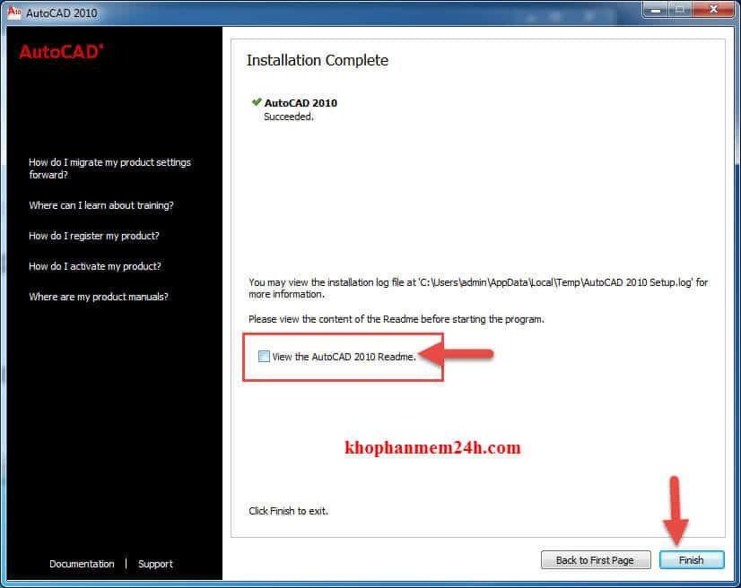 Download Autocad 2010 full + Hướng dẫn cài đặt 13