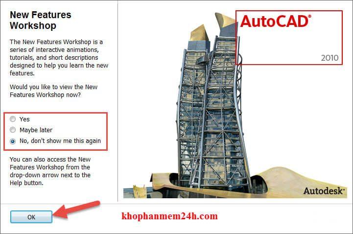 Download Autocad 2010 full + Hướng dẫn cài đặt 14