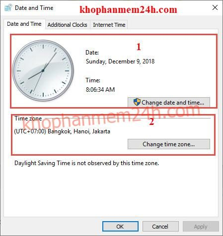 Hướng dẫn cách chỉnh giờ trên máy tính 7