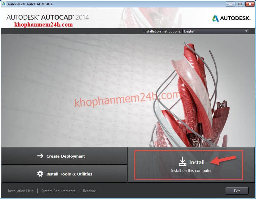 Tải Autocad 2014 full (32bit & 64bit) và cách cài autocad 2014 7