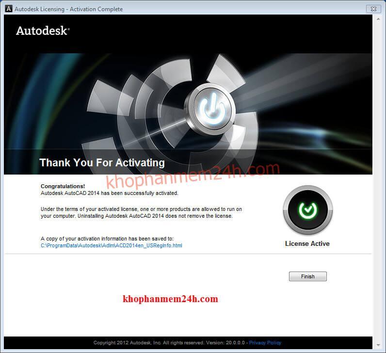 Tải Autocad 2014 full (32bit & 64bit) và cách cài autocad 2014 17