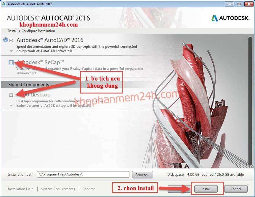 Tải AutoCAD 2016 Full & hướng dẫn cài Cad 2016 bằng hình ảnh 12