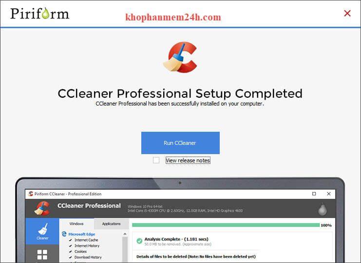 Tải ccleaner full 2019 - Phần mềm dọn dẹp máy tính chuyên nghiệp 7