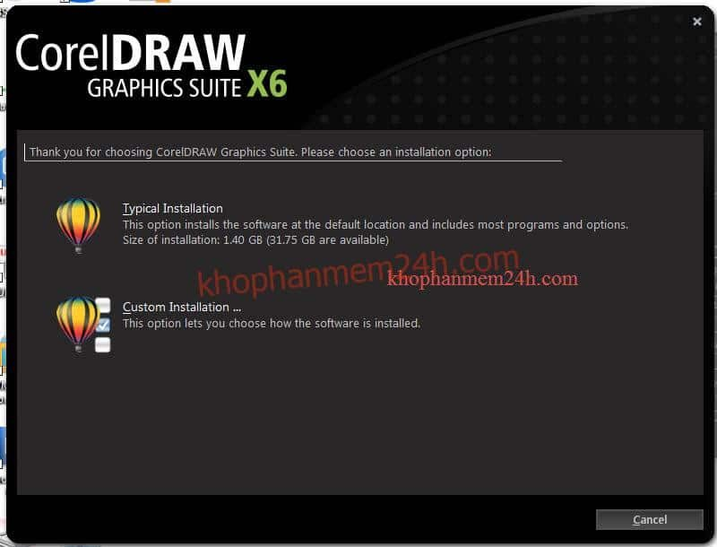 Download CorelDraw X6 Full 32bit&64bit-Hướng dẫn cài đặt Corel X6 7