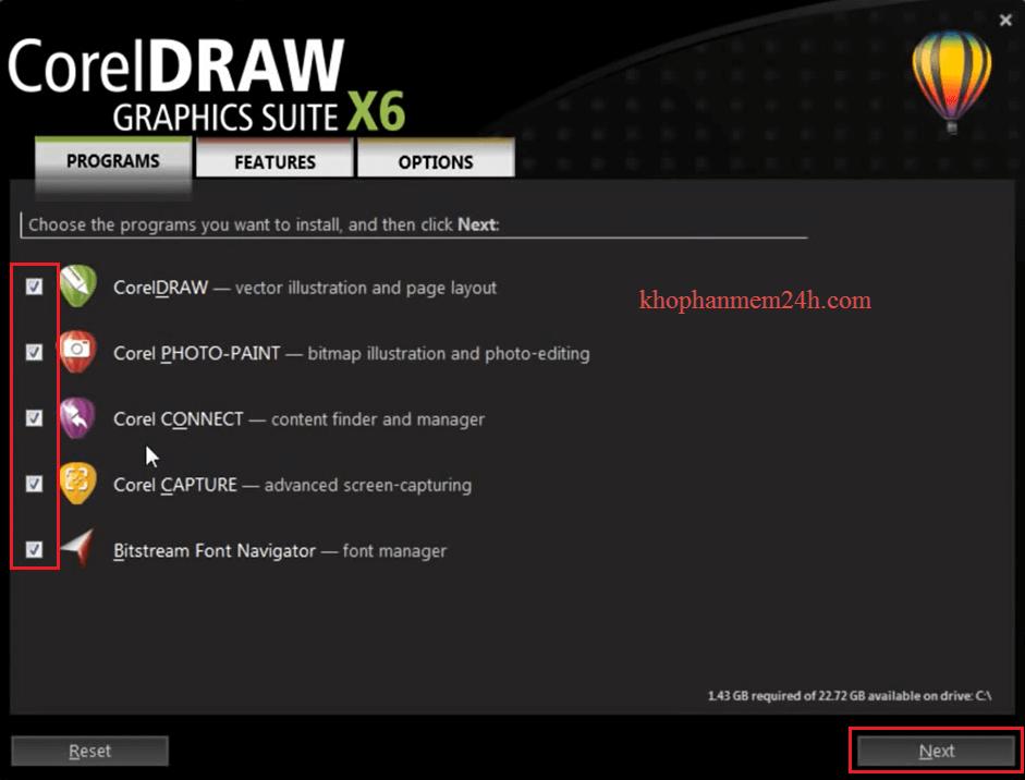Download CorelDraw X6 Full 32bit&64bit-Hướng dẫn cài đặt Corel X6 8