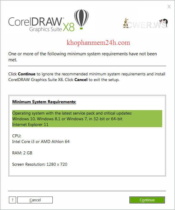 Download CorelDraw X8 Full 32bit & 64bit- Hướng dẫn cài đặt Corel X8 6