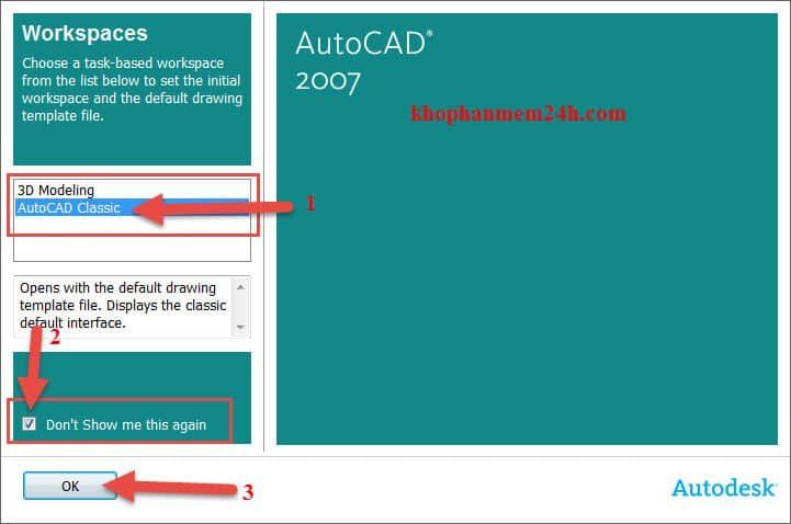 Hướng dẫn tải Autocad 2007 full key kèm cách cài đặt 20