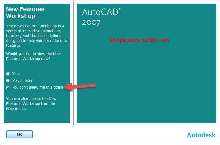 Hướng dẫn tải Autocad 2007 full key kèm cách cài đặt 21