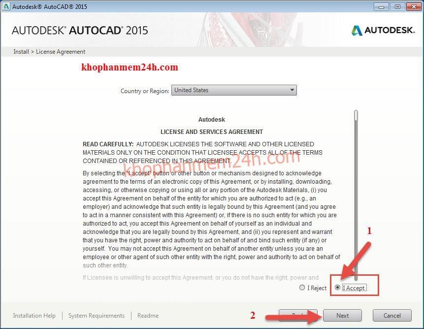 Tải autocad 2015 full 32bit & 64bit & hướng dẫn cài autocad 2015 8