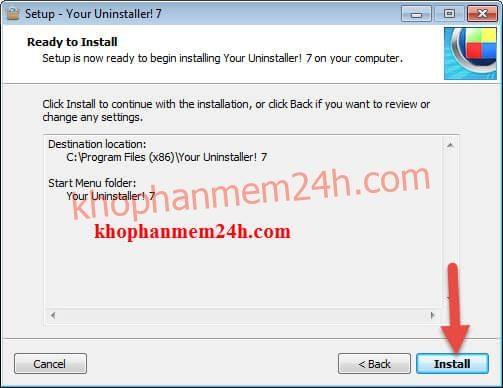 Phần mềm gỡ cài đặt your uninstaller 7.5 full key 2019 7