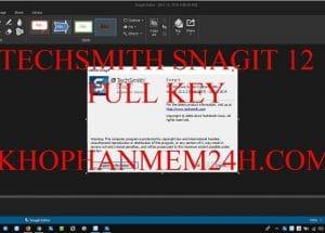 TechSmith snagit 12 full key – Phần mềm chụp màn hình máy tính