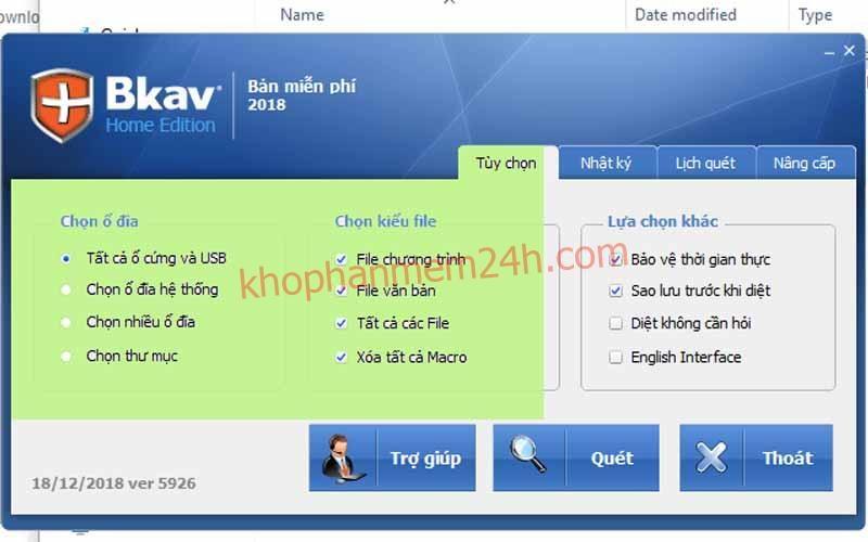 Tải BKAV Home-Phần mềm diệt virus miễn phí trên máy tính 2019 1