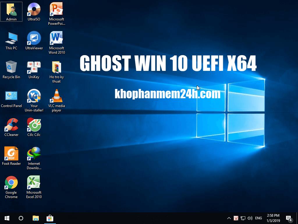 [Link GDrive] Tải Ghost Win 10 64bit Full Soft UEFI Mới 2019