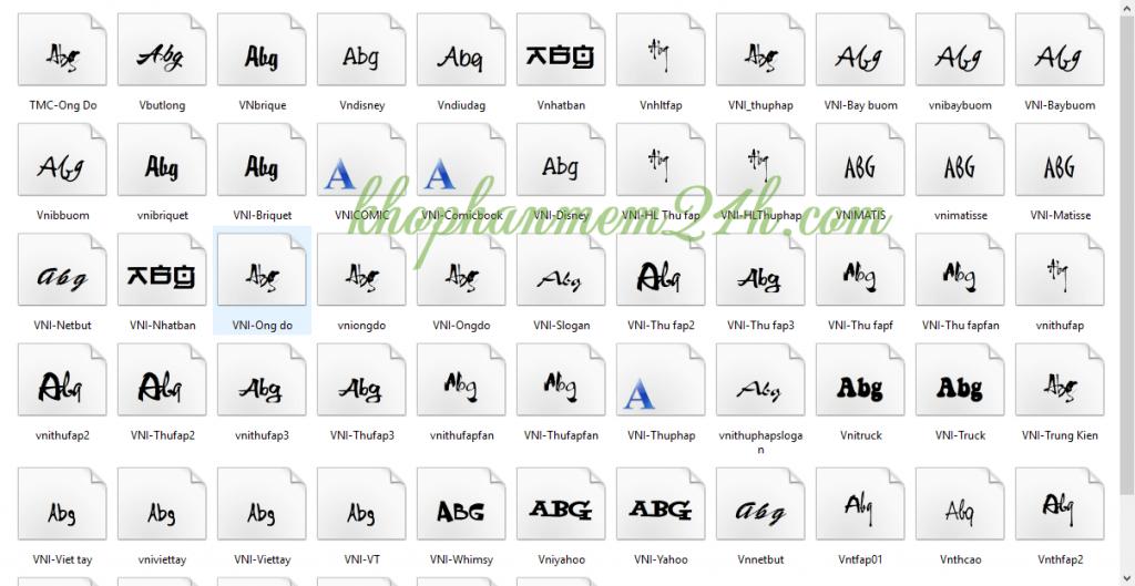 Tải Full font chữ đẹp tiếng việt cho văn phòng và đồ họa thiết kế 4