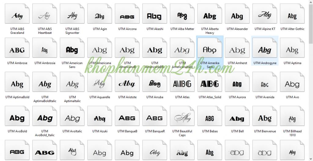 Tải Full font chữ đẹp tiếng việt cho văn phòng và đồ họa thiết kế 7