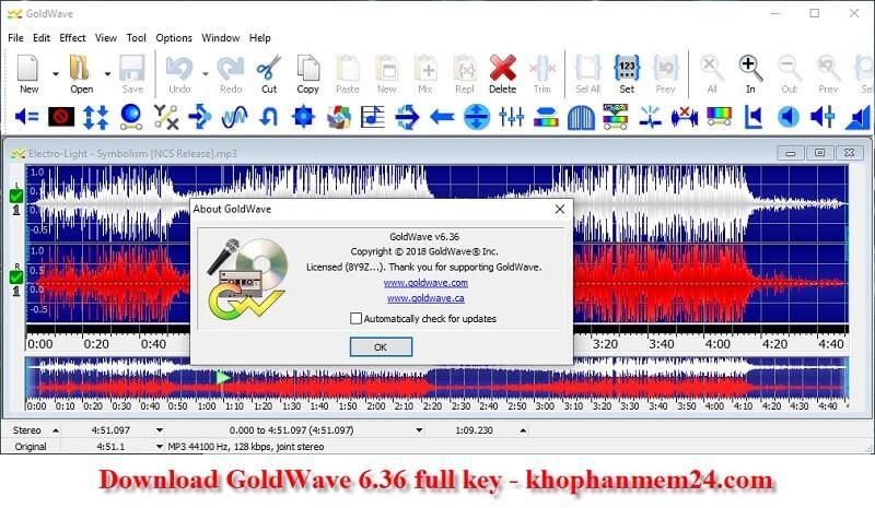 Tải GoldWave 6.36 full crack - Phần mềm cắt ghép nhạc 1