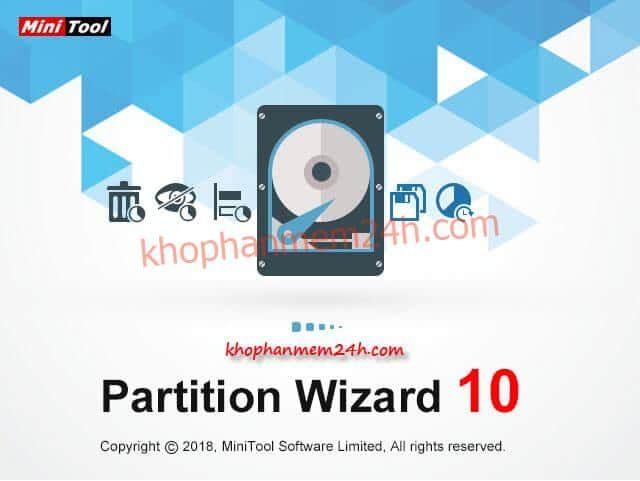 Tải MiniTool Partition Wizard 10.3 mới nhất 2019 - Phần mềm chia ổ cứng chuyên nghiệp 1
