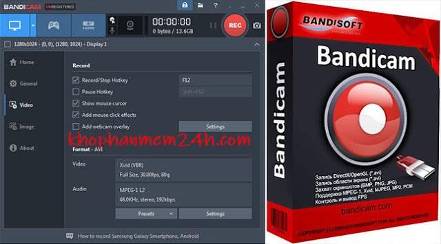 Download Bandicam 4.4 full key mới nhất 2019 - Phần mềm quay màn hình nhẹ nhất 2