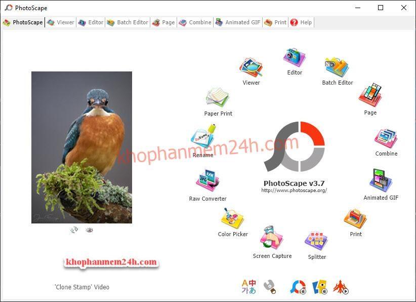 Tải PhotoScape 3.7 mới nhất 2019 - Phần mềm chỉnh sửa ảnh 1