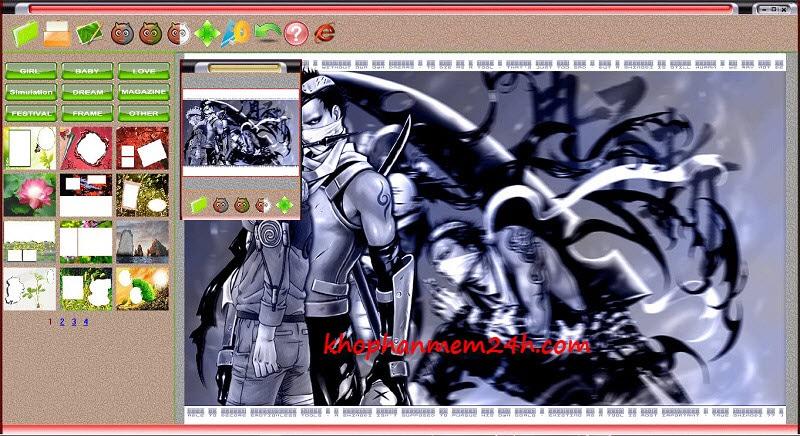 Tải PhotoShine 5.5 - Phần mềm ghép ảnh vào khung 1