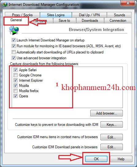 Cách sửa lỗi IDM không bắt link trên Chrome Firefox Youtube 3
