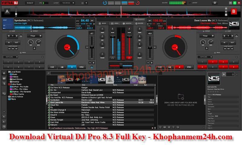Tải Virtual DJ Pro 8.3 mới nhất – Phần mềm mix nhạc chuyên nghiệp
