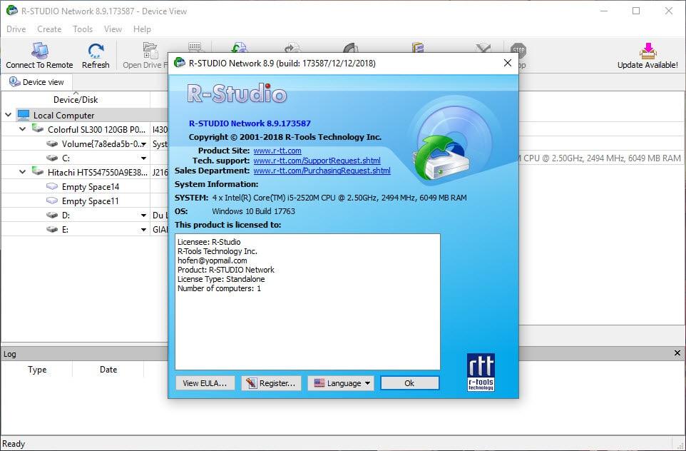 TIỆN ÍCH - Download R-Studio 8 9 full key | Tinhte vn