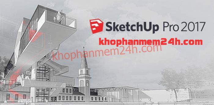 Tải Sketchup 2017 full active+Vray 3.4 for sketchup 2017