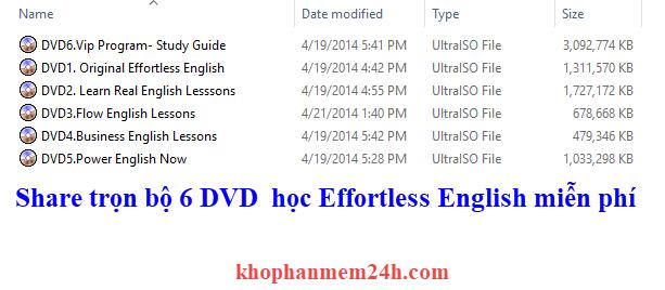 6 DVD effortless english