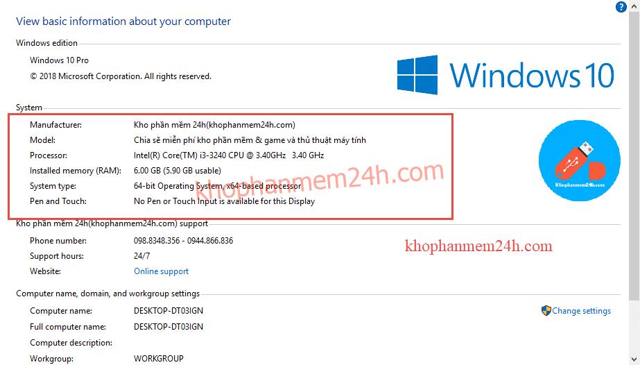 Hướng dẫn cách xem cấu hình máy tính win 7 win 8 win 10 1