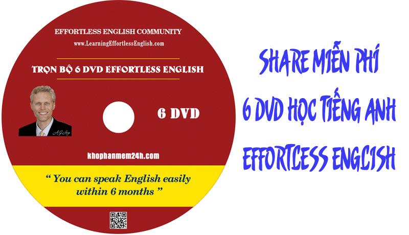 DVD học tiếng anh effortless english