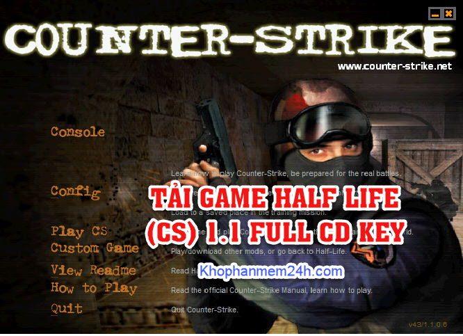Tải Game Half Life 1.1 Full CD Key-Game bắn súng huyền thoại 1