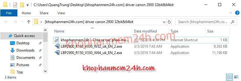Hướng dẫn cách cài driver Canon 2900 32bit&64bit 5