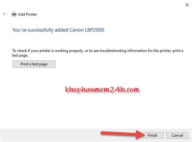 Hướng dẫn cách cài driver Canon 2900 32bit&64bit 21
