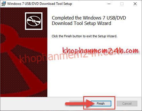 Hướng dẫn cách tạo usb cài win bằng Windows 7 USB/DVD Download Tool 7