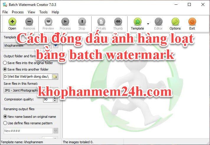 Hướng dẫn cách đóng dấu ảnh hàng loạt bằng Batch Watermark Creator 7.0.3 1