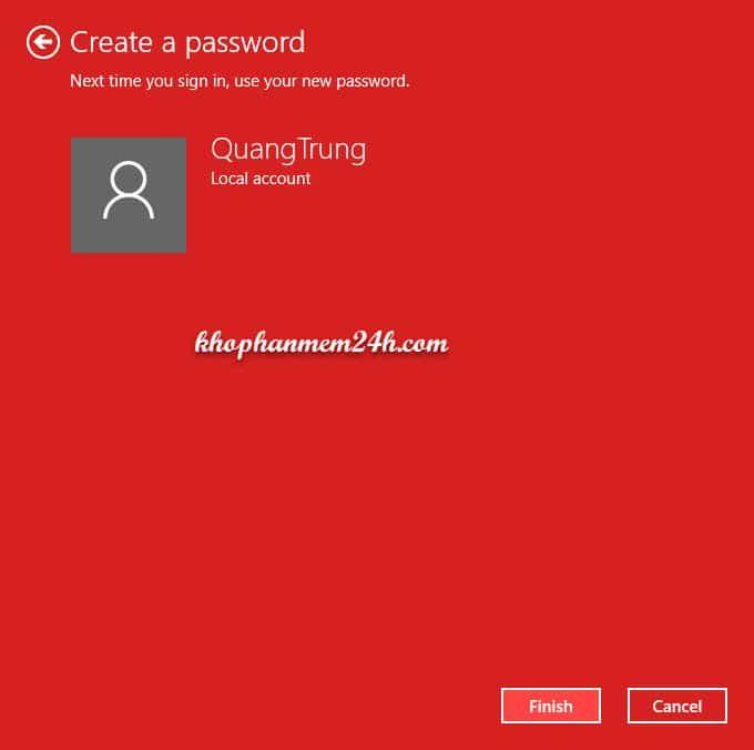 Hướng dẫn cách cài mật khẩu máy tính khi đăng nhập 10