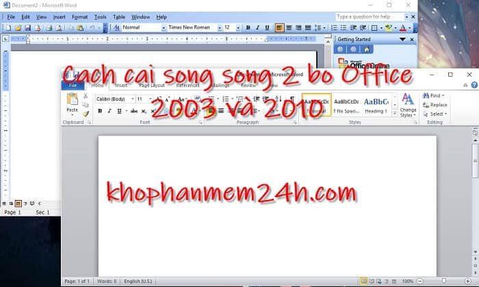Hướng dẫn cách cài song song Office 2003 và 2010 trên Win 10 1