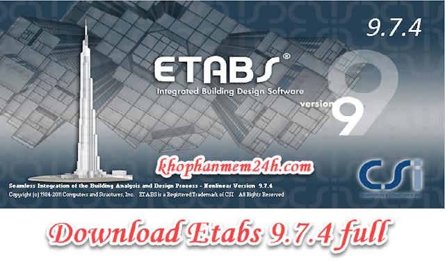 Tải Etabs 9.7 full active – Cách cài đặt etabs 9.7