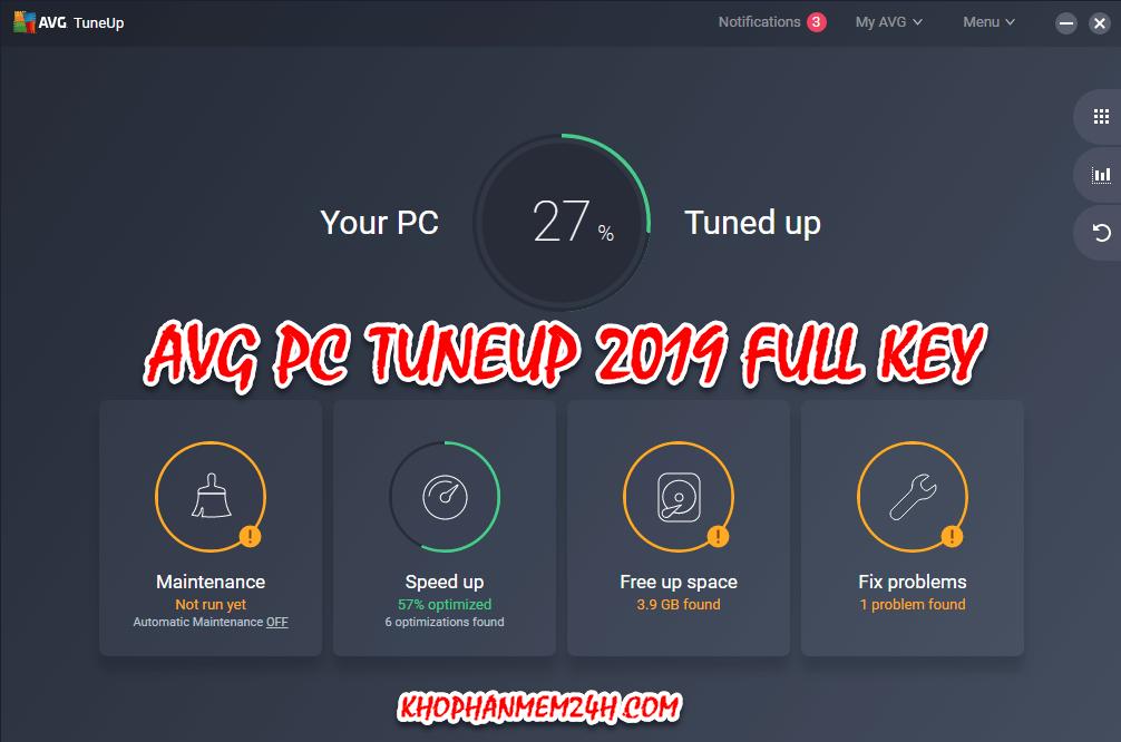 Download AVG PC TuneUp 2019 full key - tối ưu máy tính tuyệt vời 1