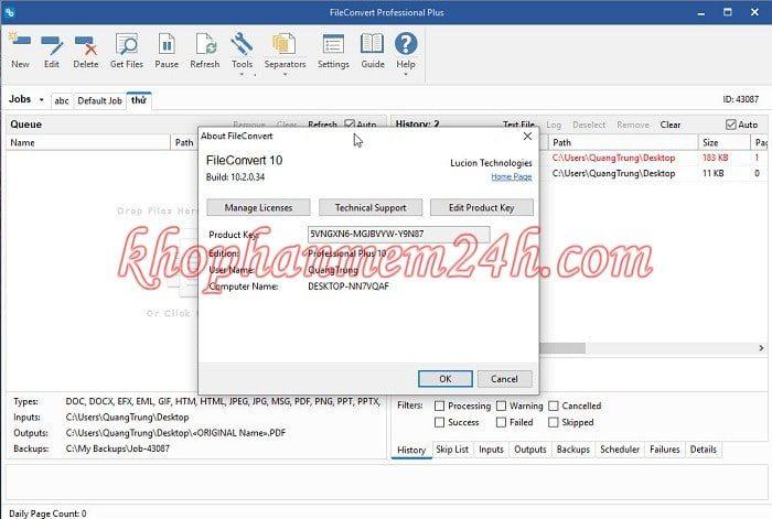 Download Lucion FileConvert Professional Plus 10.2 full key- Phần mềm chuyển file sang pdf 2