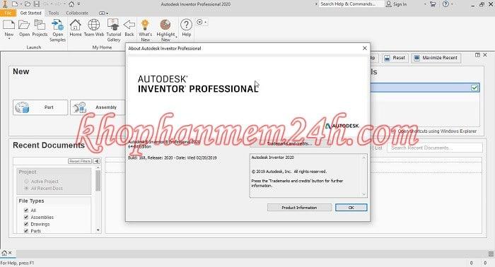 Hướng dẫn Download InVentor 2020 full key 2