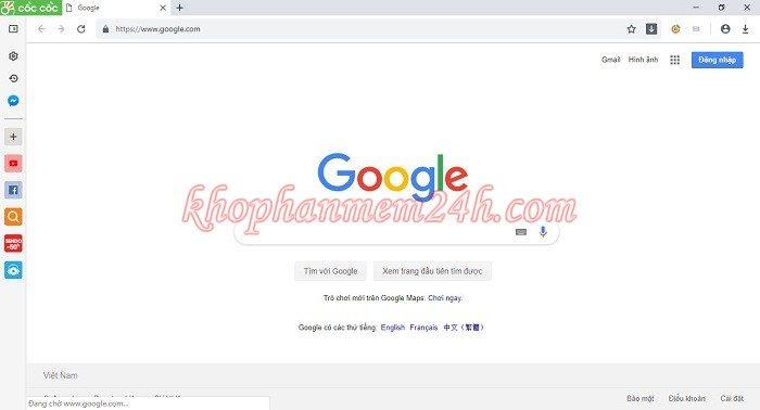 Hướng dẫn cách đặt google làm trang chủ trên trình duyệt 8