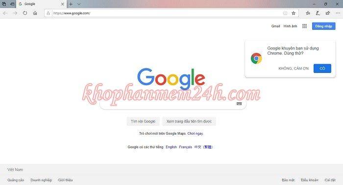 Hướng dẫn cách đặt google làm trang chủ trên trình duyệt 14