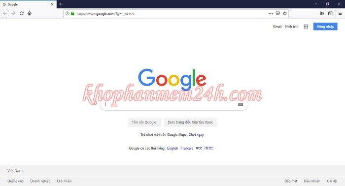 Hướng dẫn cách đặt google làm trang chủ trên trình duyệt 11