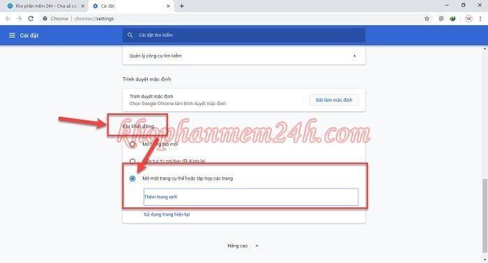 Hướng dẫn cách đặt google làm trang chủ trên trình duyệt 2