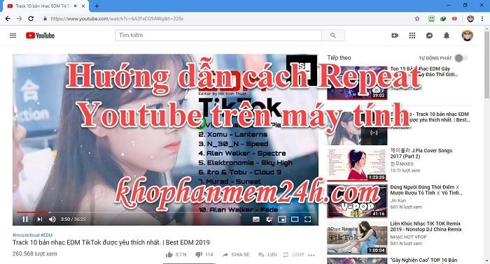 3 cách Repeat Youtube - Cách lặp lại video trên Youtube 1